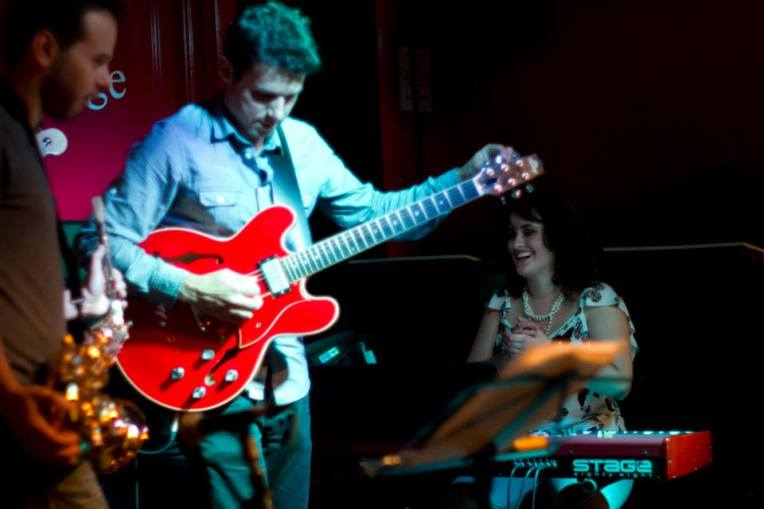 Stefanos Tsourelis Guitarist London at Charlie Wrights with Emily Francis